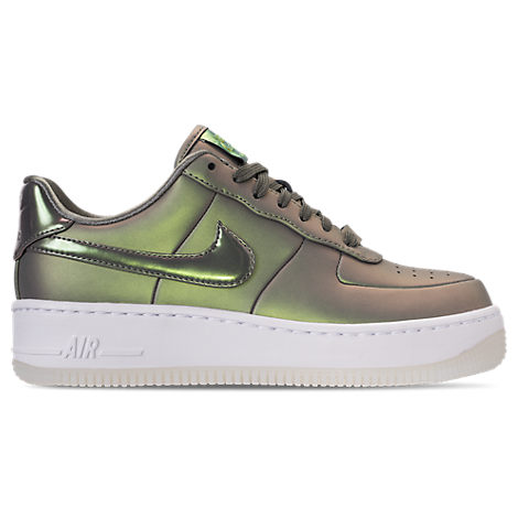 WOMEN'S AIR FORCE 1 UPSTEP PREMIUM LX CASUAL SHOES, GREY