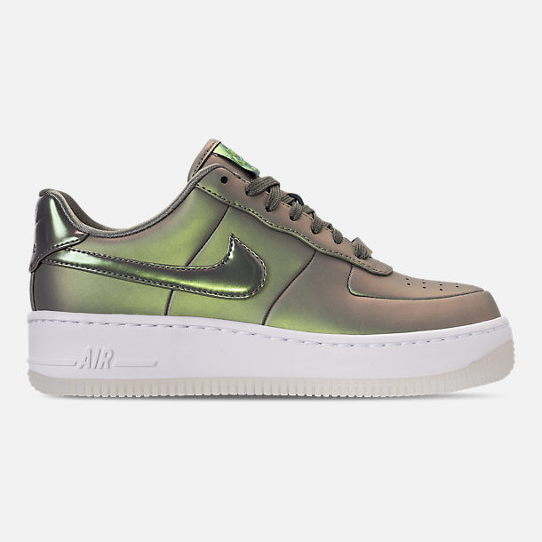 Right view of Women's Nike Air Force 1 Upstep Premium LX Casual Shoes in Dark Stucco/Dark Stucco/White