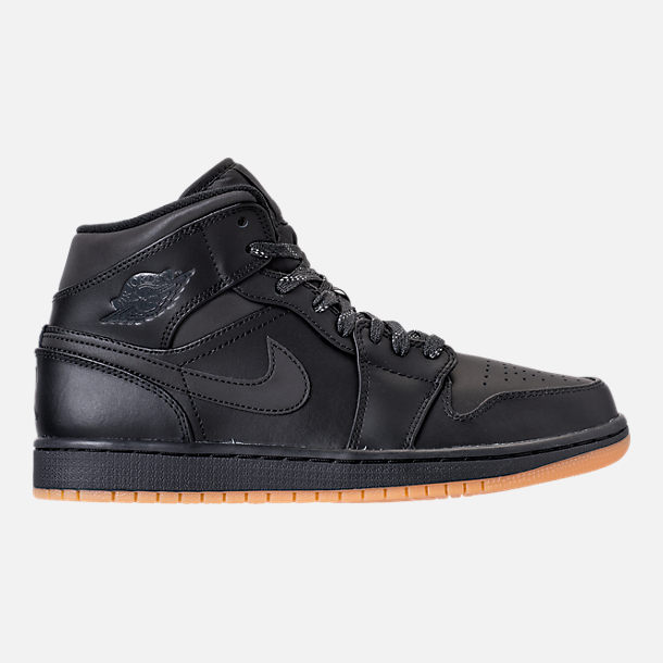 Right view of Men's Air Jordan 1 Mid Winterized Shoes in  Black/Anthracite/Gum