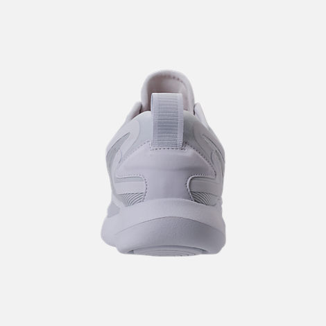 Back view of Women's Nike LunarSolo Running Shoes in White/Pure Platinum