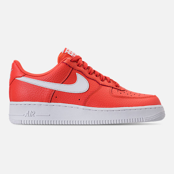 Right view of Men's Nike Air Force 1 '07 Casual Shoes in Team Orange/White