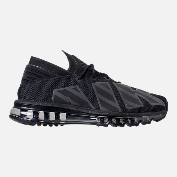 Right view of Men's Nike Air Max Flair SE Casual Shoes in Black/Anthracite/Black