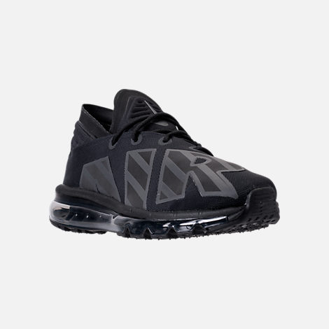 Three Quarter view of Men's Nike Air Max Flair SE Casual Shoes in Black/Anthracite/Black