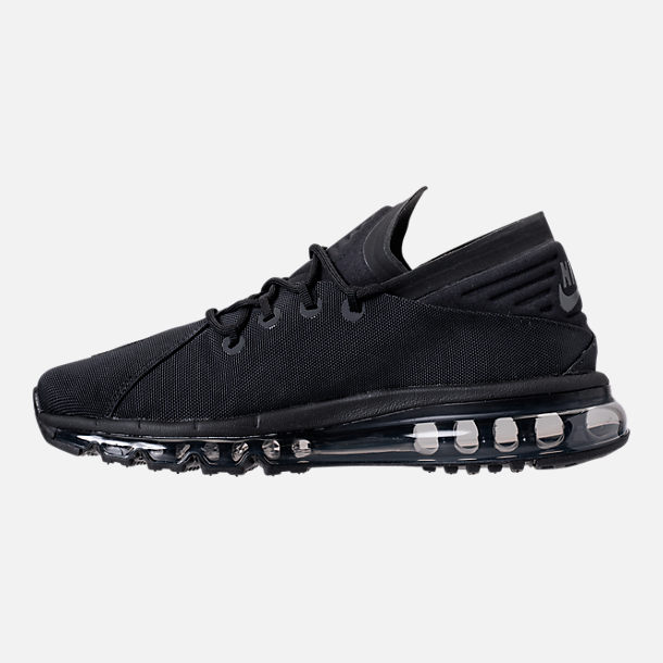 Left view of Men's Nike Air Max Flair SE Casual Shoes in Black/Anthracite/Black