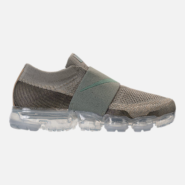 Right view of Women's Nike Air VaporMax Flyknit MOC Running Shoes in Dark Stucco/Clay Green/Neutral Olive