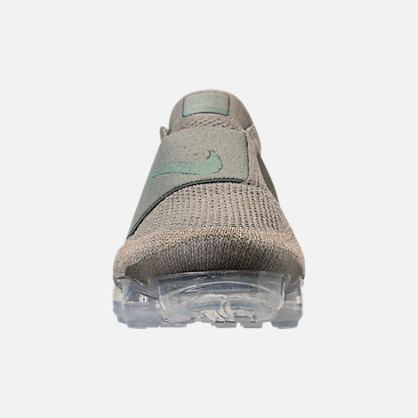 Front view of Women's Nike Air VaporMax Flyknit MOC Running Shoes in Dark Stucco/Clay Green/Neutral Olive