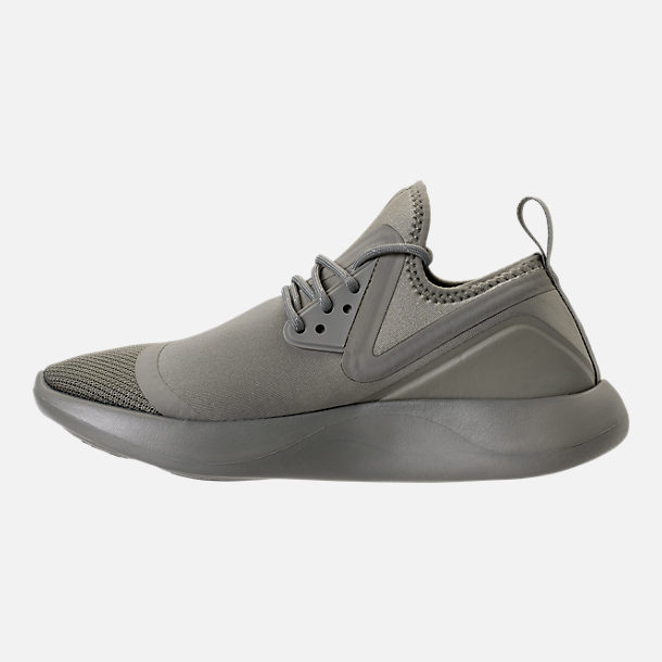 Left view of Women's Nike LunarCharge Essential Reflective Casual Shoes in Black/Dark Grey