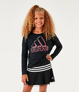 Girls' adidas Logo Dot Long-Sleeve T-Shirt