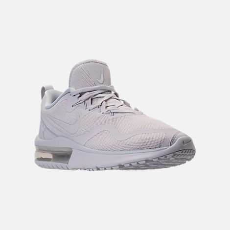 Three Quarter view of Men's Nike Air Max Fury Running Shoes in White/Pure Platinum
