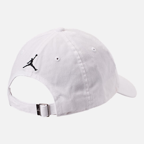 Alternate view of Jordan Heritage86 Script Adjustable Back Hat in White/Black