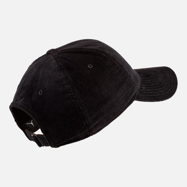 Back view of Jordan Heritage86 Corduroy Strapback Hat