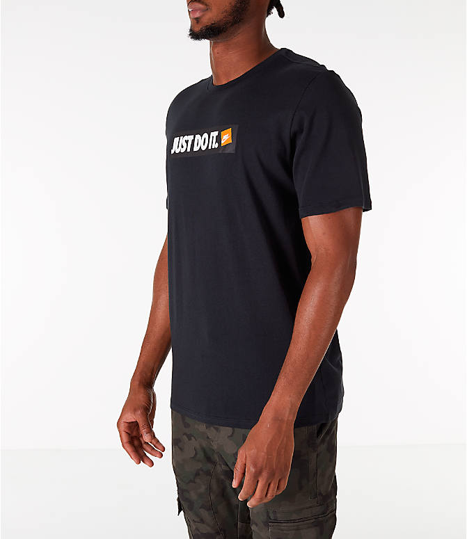 Front Three Quarter view of Men's Nike Sportswear JDI T-Shirt in Black