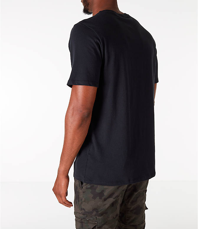 Back Left view of Men's Nike Sportswear JDI T-Shirt in Black