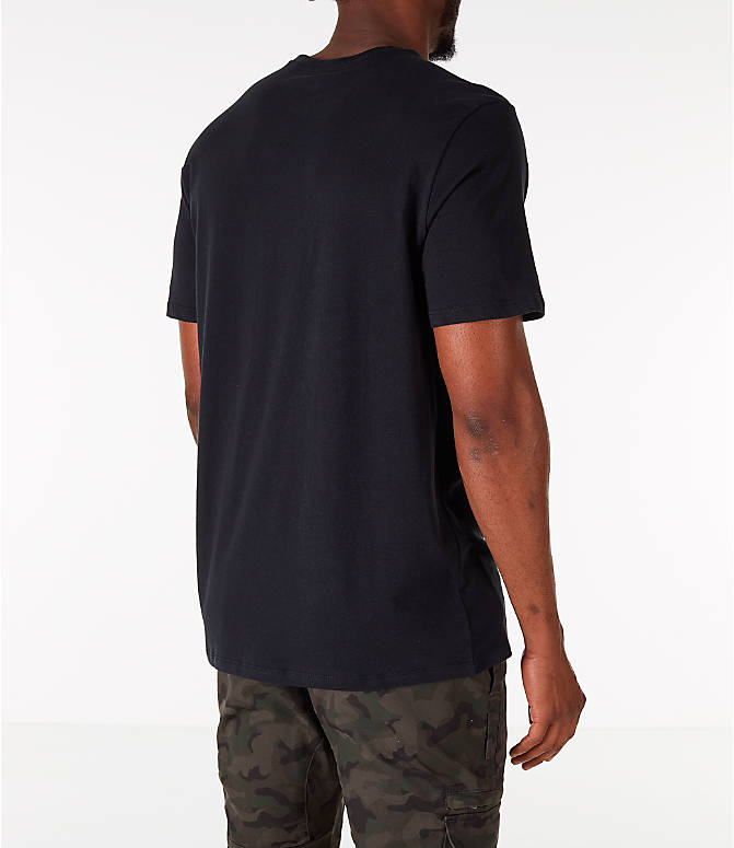 Back Right view of Men's Nike Sportswear JDI T-Shirt in Black