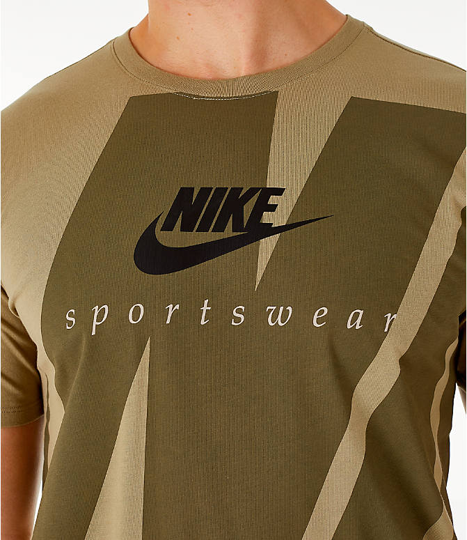 Detail 1 view of Men's Nike Sportswear Oversized Logo T-Shirt in Olive