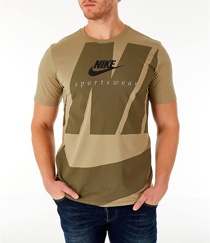 Detail 2 view of Men's Nike Sportswear Oversized Logo T-Shirt in Olive