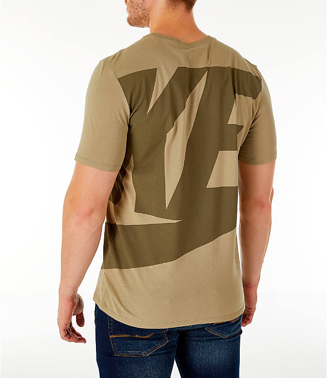 Back Left view of Men's Nike Sportswear Oversized Logo T-Shirt in Olive