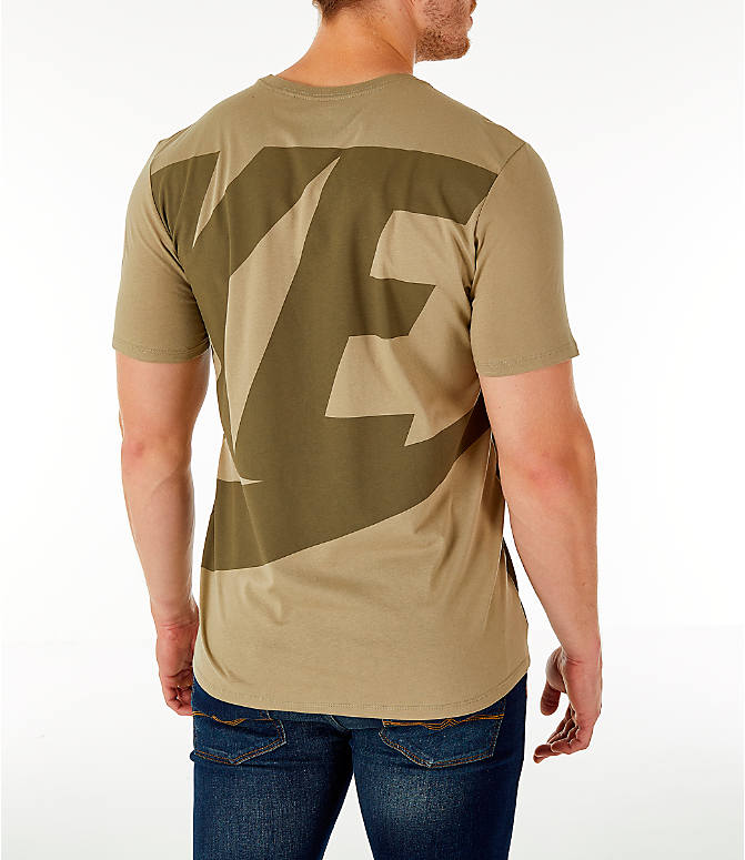Back Right view of Men's Nike Sportswear Oversized Logo T-Shirt in Olive