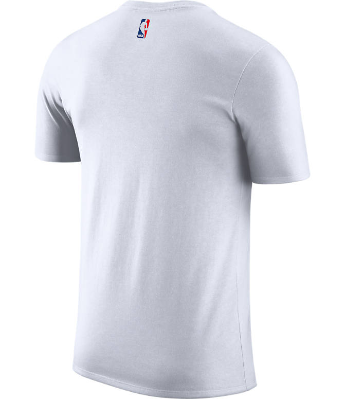 Back view of Men's Nike Boston Celtics NBA Dry City Edition T-Shirt in White