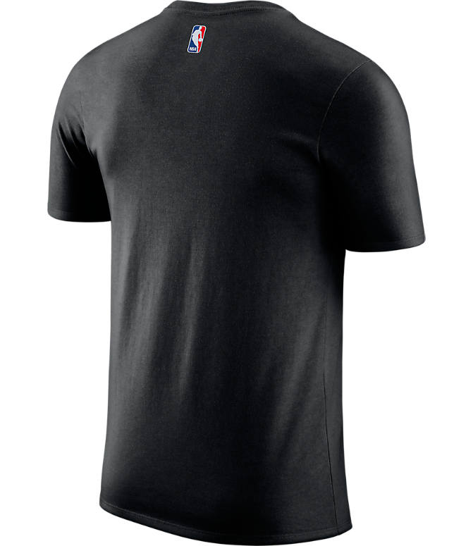 Back view of Men's Nike Charlotte Hornets NBA Dry City Edition T-Shirt in Black