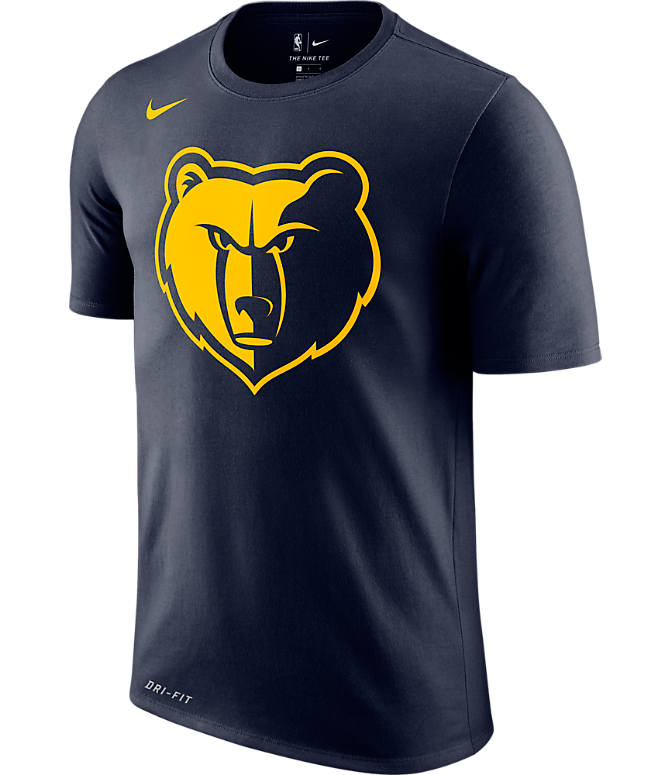 Front view of Men's Nike Memphis Grizzlies NBA Dry City Edition T-Shirt in Dark Steel