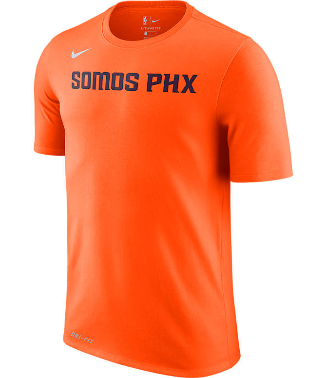 Front view of Men s Nike Phoenix Suns NBA Dry City Edition T-Shirt in Orange ce60fb26f