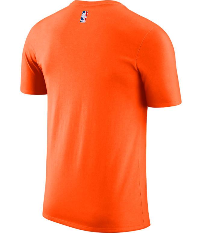 Back view of Men s Nike Phoenix Suns NBA Dry City Edition T-Shirt in Orange 1004b4132