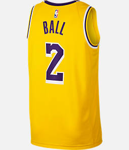Men's Nike Los Angeles Lakers NBA Lonzo Ball Icon Edition Connected Jersey
