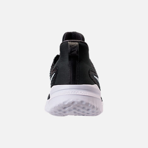 Back view of Men's Nike Renew Rival Running Shoes in Black/White/Anthracite