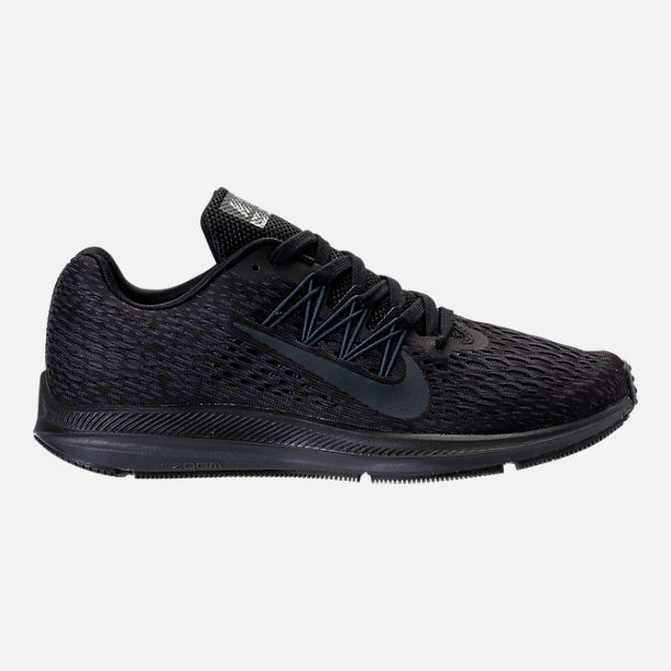 Right view of Men's Nike Air Zoom Winflo 5 Running Shoes in Black/Anthracite