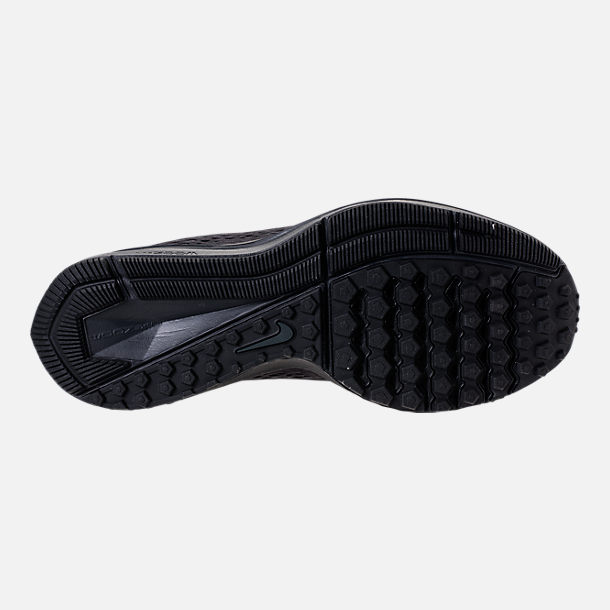 Bottom view of Men's Nike Air Zoom Winflo 5 Running Shoes in Black/Anthracite