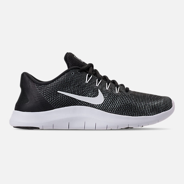 1b5f744f9512c Right view of Women s Nike Flex RN 2018 Running Shoes in Black White