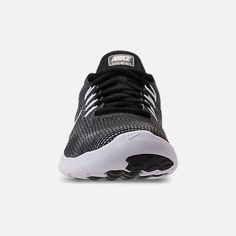 67a2600a1d45 Front view of Women s Nike Flex RN 2018 Running Shoes in Black White