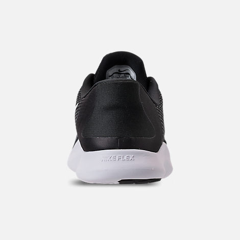 1c3e3a6c1b297 Back view of Women s Nike Flex RN 2018 Running Shoes in Black White