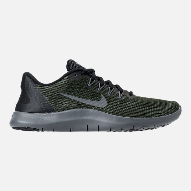 Right view of Women's Nike Flex RN 2018 Running Shoes in Black/Dark Grey/Anthracite