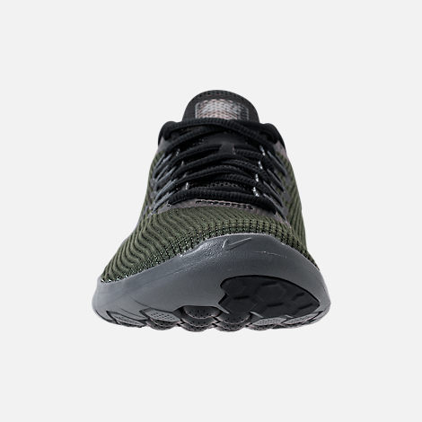 Front view of Women's Nike Flex RN 2018 Running Shoes in Black/Dark Grey/Anthracite