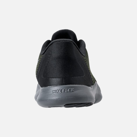 Back view of Women's Nike Flex RN 2018 Running Shoes in Black/Dark Grey/Anthracite