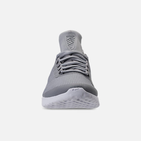 Front view of Women's Nike Renew Rival Running Shoes in Stealth/Wolf Grey/White