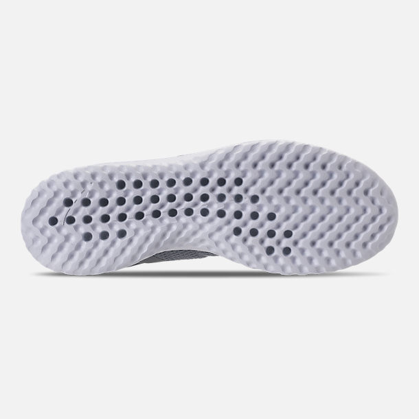 Bottom view of Women's Nike Renew Rival Running Shoes in Stealth/Wolf Grey/White