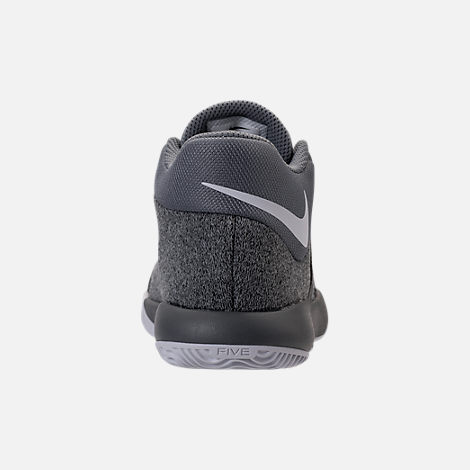 Back view of Boys' Preschool Nike KD Trey 5 V Basketball Shoes in Cool Grey/White/Wolf Grey