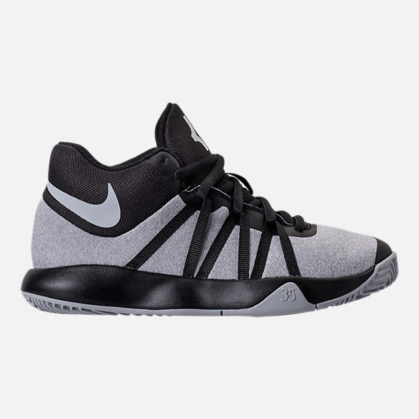 Right view of Boys' Preschool Nike KD Trey 5 V Basketball Shoes in Black/Wolf Grey