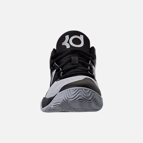 Front view of Boys' Preschool Nike KD Trey 5 V Basketball Shoes in Black/Wolf Grey