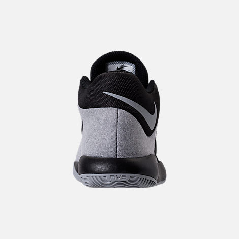 Back view of Boys' Preschool Nike KD Trey 5 V Basketball Shoes in Black/Wolf Grey