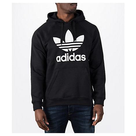 ADIDAS ORIGINALS Adicolor Pullover Hoodie With Trefoil Logo In Black Cw1240 - Black