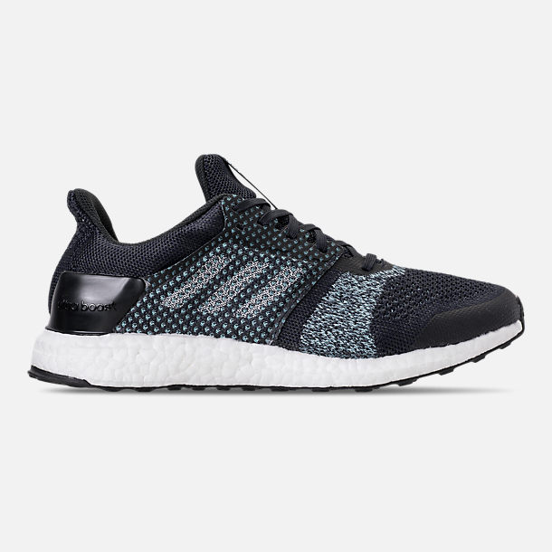 Right view of Men's adidas UltraBOOST ST x Parley Running Shoes in Legend Inkn/Clear Mint/Aqua