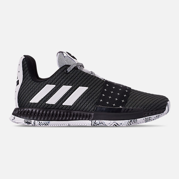 Right view of Boys' Grade School adidas Harden Vol.3 Basketball Shoes in Black/White/Black