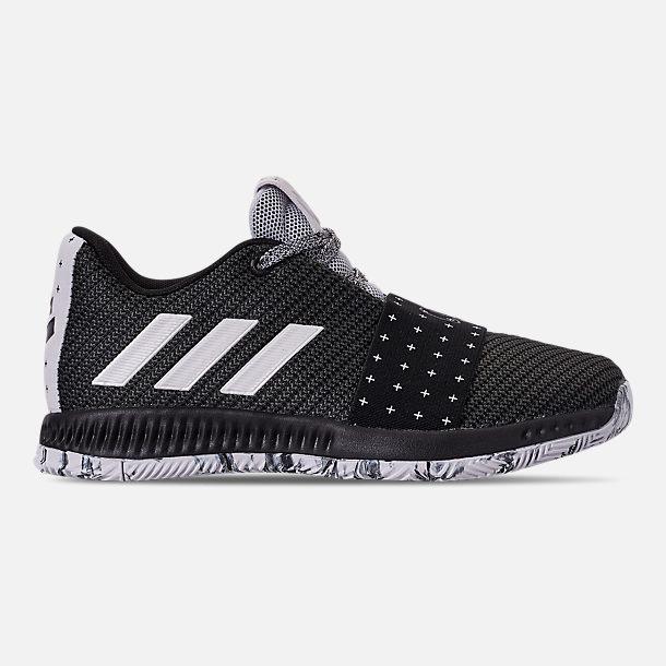 db8b345938f hot right view of boys preschool adidas harden vol.3 basketball shoes in  black 4c1cf