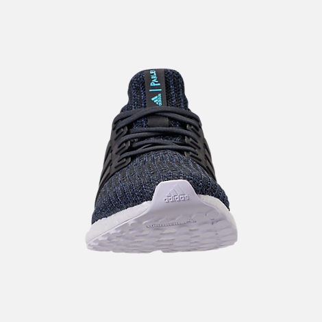 Front view of Men's adidas UltraBOOST Parley Running Shoes in Legend Ink/Carbon/Blue Spirit