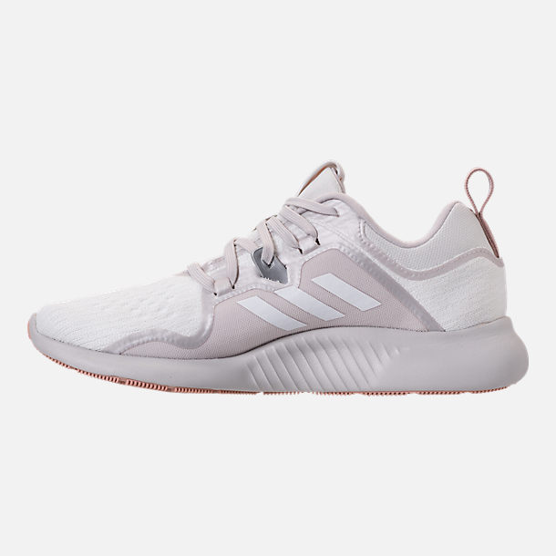 ef0433c95 Left view of Women s adidas Edge Bounce Running Shoes in Footwear White Grey  One