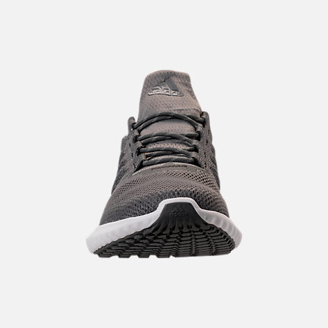 Front view of Men's adidas AlphaBounce City Climacool Running Shoes in Grey/Footwear White